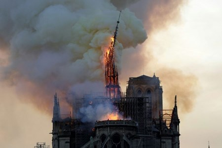 Picture of Blaze devastates Notre-Dame, Paris firefighters fear for one bell tower